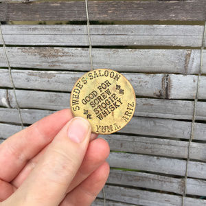 Vintage Accessories - VINTAGE . BRASS BROTHEL TOKEN . SWEDES SALOON